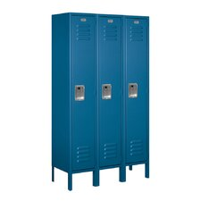 1 Tier 3 Wide Standard Contemporary Locker