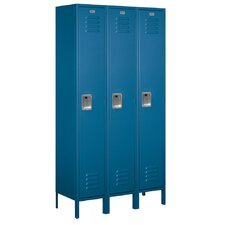 <strong>Salsbury Industries</strong> Assembled Single Tier 3 Wide Extra Wide Standard Locker