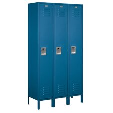 Unassembled Single Tier 3 Wide Extra Wide Standard Locker