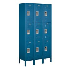 <strong>Salsbury Industries</strong> Assembled Triple Tier 3 Wide Extra Wide Standard Locker