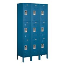 <strong>Salsbury Industries</strong> Unassembled Triple Tier 3 Wide Extra Wide Standard Locker