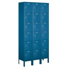 Unassembled Six Tier Box 3 Wide Standard Locker