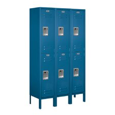 Assembled Double Tier 3 Wide Standard Locker