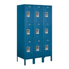 <strong>Salsbury Industries</strong> Assembled Triple Tier 3 Wide Standard Locker
