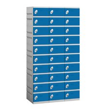 Assembled Ten Tier 3 Wide Locker