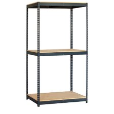 "Solid 84"" H 3 Shelf Shelving Unit Starter"