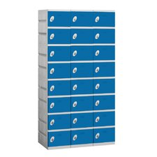 Unassembled Eight Tier 3 Wide Locker