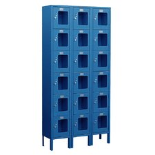 Assembled See-Through Six Tier 3 Wide Locker