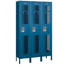 Unassembled Extra Wide Vented Single Tier 3 Wide Locker