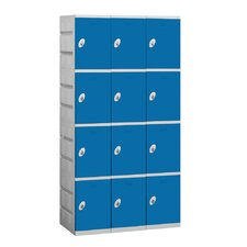 Unassembled Four Tier 3 Wide Locker