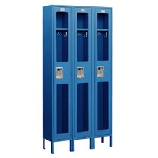 Assembled See-Through Single Tier 3 Wide Locker