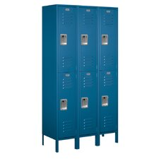 <strong>Salsbury Industries</strong> Assembled Double Tier 3 Wide Extra Wide Standard Locker
