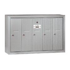 Vertical 5 Door Mailbox for USPS Access