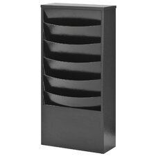 EclipseTM 5 Pocket Curved Steel Literature Rack