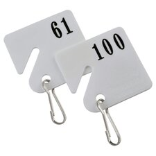 Numbered 61-100 Plastic Key Tag