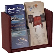 <strong>Buddy Products</strong> Oak and Acrylic 1 Pocket Literature and Brochure Holder