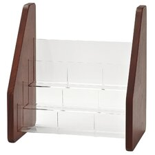 <strong>Buddy Products</strong> Wood Back and Acrylic Pocket Brochure Rack