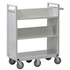 "42"" 6 Wheel Sloped Shelf Cart"