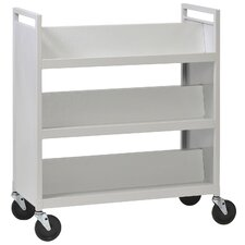 <strong>Buddy Products</strong> Slant Shelves Shelf Cart