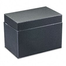 <strong>Buddy Products</strong> Steel Card File Box with Hinged Lid Holds Approximately 400 4 x 6 Cards, Black