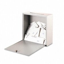 Wall-Mountable Interoffice Mail Collection Box, 18w x 7d x 18h, Platinum