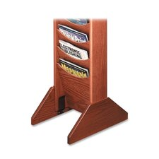 "Wood Base,for Literature Display, 14""x3/4""x5-3/4"", Medium Oak"