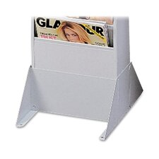 "Steel Wall / Floor Literature Rack, 10""x12-1/8""x4-7/8"", Platinum"