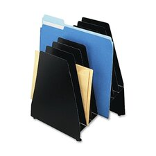 "Slant File, 8-Pocket, 8""x8-1/4""x11"", 1"" Deep Graduated Pockets"