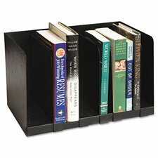 Six Section Book Rack with Dividers