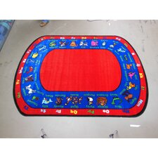 Animated Animals Kids Rug