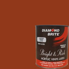 Bright and Rich Copper Penny Latex Paint