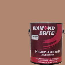 <strong>Diamond Brite</strong> 1 Gal. Chocolate Latex Paint Semi Gloss