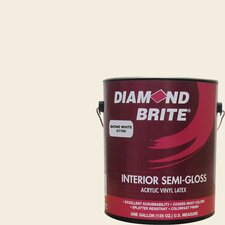 <strong>Diamond Brite</strong> Bone White Latex Paint Semi Gloss