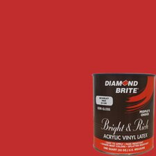 <strong>Diamond Brite</strong> Bright and Rich Scarlet Red Latex Paint