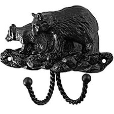 <strong>Sierra Lifestyles</strong> Decorative Black Bear Hook