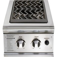"""30"""" Built In Dual Side Burner for Gas Grill"""