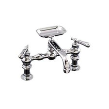 <strong>Strom Plumbing by Sign of the Crab</strong> Double Handle Deck Mounted Kitchen Faucet