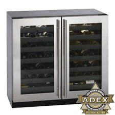 Wine Captain 62 Bottle Double Door Wine Cooler