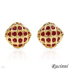 Rucinni Round Shape Swarovski Crystal Stud Earrings