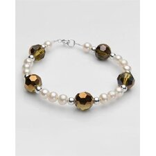 Round Cultured Pearls Beaded Bracelet