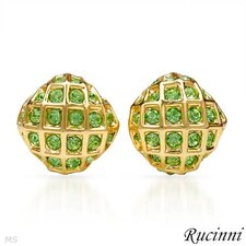 Rucinni Round Cut Swarovski Crystal Stud Earrings