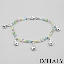 Dv Italy Crystal Beaded Bracelet