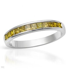 <strong>Vivid Gemz</strong> Gold princess Diamonds Ring