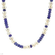 925 Sterling Silver Beaded Tanzanite Necklace