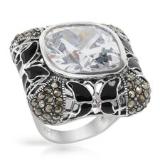 <strong>Vivid Gemz</strong> Cushion Cut Cubic Zirconia Ring