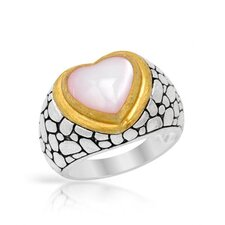 Heart Cut Mother of Pearl Ring