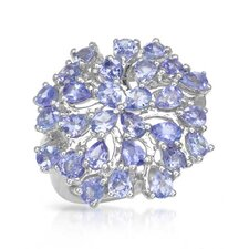 <strong>Vivid Gemz</strong> 925 Sterling Silver Pear Cut Tanzanite Ring