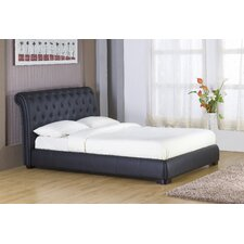 <strong>GFW - The Furniture Warehouse</strong> Atlanta Buttoned Sleigh Bed Frame