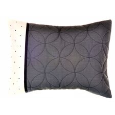 "Shibori Diamond 15"" x 20"" Sashiko Decorative Down Pillow"