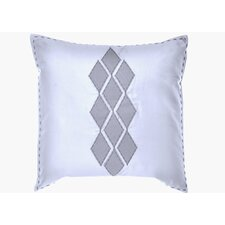 "Shibori Diamond 20"" x 20"" Applique Diamond Decorative Down Pillow"
